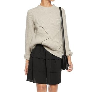 IRO Bell black mini skirt